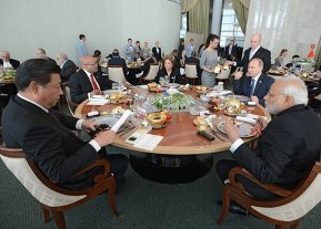 BRICS leaders limited attendance working breakfast