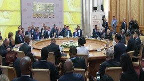 Участие Президента России Владимира Путина во встрече лидеров БРИКС в расширенном составе_rus